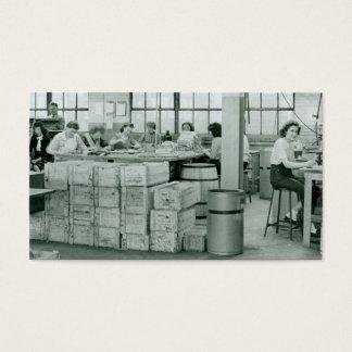 Women Working Munitions Business Card