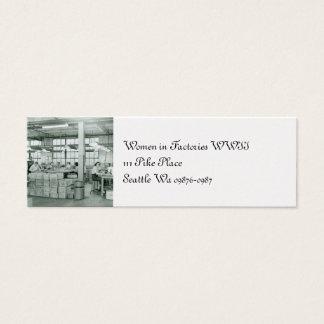 Women Working Munitions Mini Business Card
