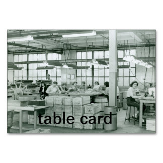 Women Working Munitions Table Card