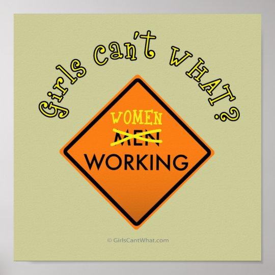 Women Working Sign
