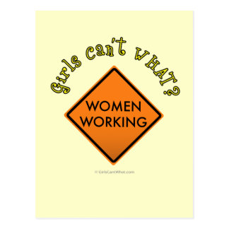 Women Working Sign Postcard