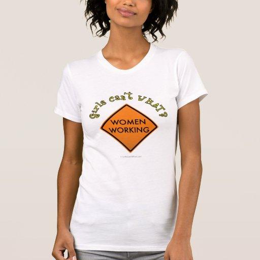 Women Working Sign Tshirt