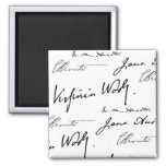 Women Writers 2 Inch Square Magnet