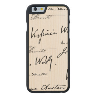 Women Writers Carved Maple iPhone 6 Slim Case