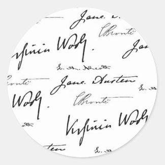 Women Writers Classic Round Sticker