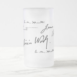 Women Writers Frosted Glass Beer Mug