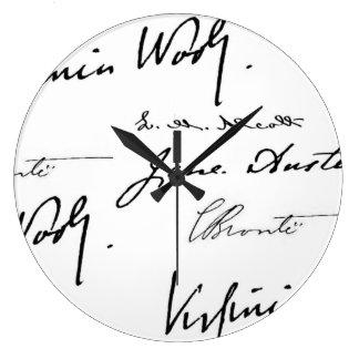 Women Writers Large Clock
