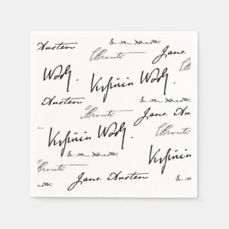 Women Writers Paper Napkin