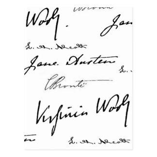 Women Writers Postcard