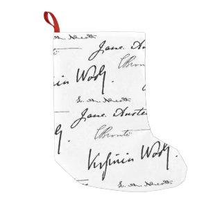 women writers small christmas stocking