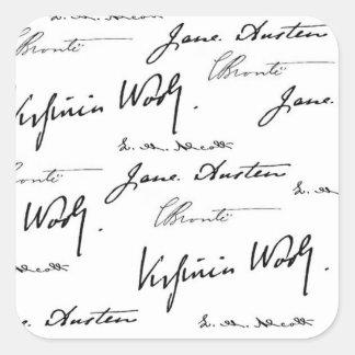 Women Writers Square Sticker