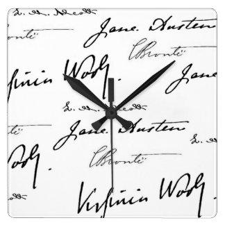 Women Writers Square Wall Clock