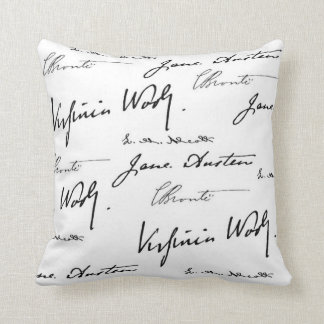 Women Writers Throw Pillow