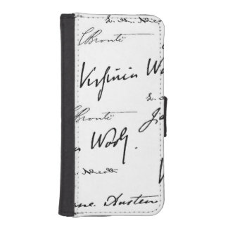 Women Writers Wallet Phone Case For iPhone SE/5/5s