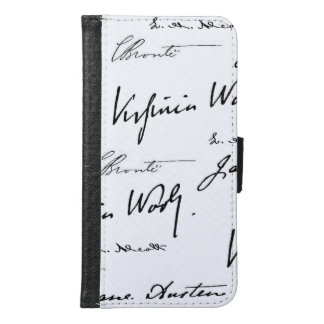 Women Writers Wallet Phone Case For Samsung Galaxy S6