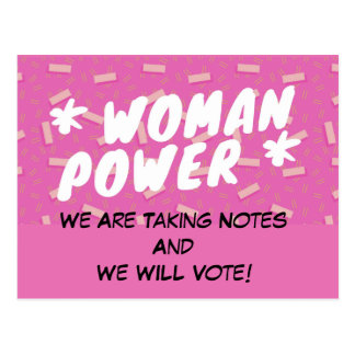 WomenPower Postcard VOTE Politics