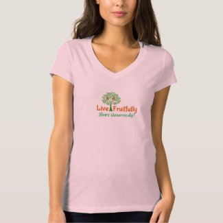 Women's 100% Jersey Cotton V-Neck T-Shirt
