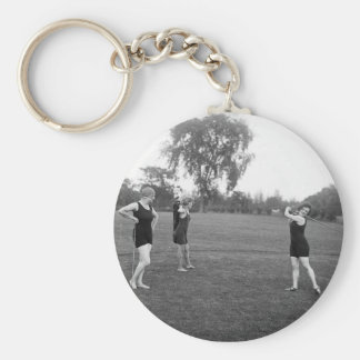 Women's 1920s Golf Fashion Keychain