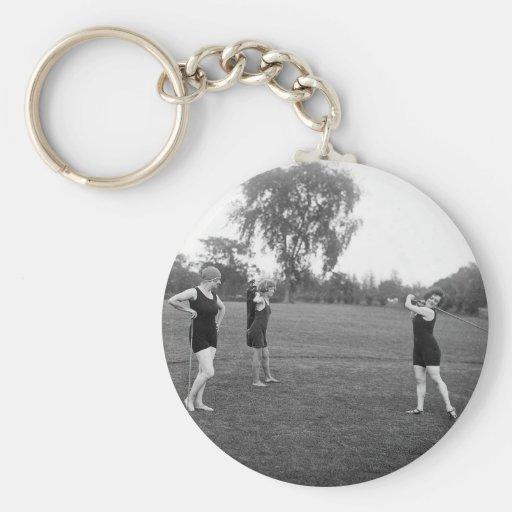 Women's 1920s Golf Fashion Keychains