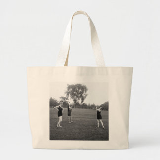 Women's 1920s Golf Fashion Large Tote Bag