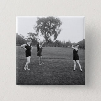 Women's 1920s Golf Fashion Pinback Button