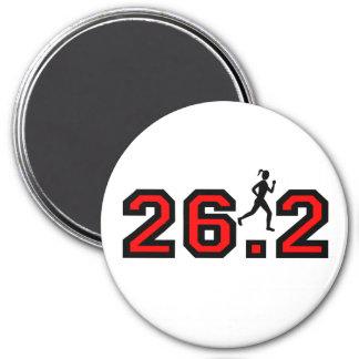 women's 26.2 marathon fridge magnet