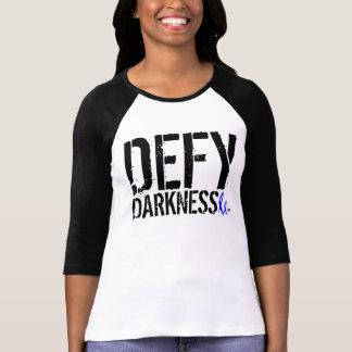 Women's 2NOBBIR Defy Darkness Bella Raglan Tee Shirt