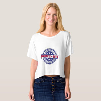Womens 4th of July Crop Top
