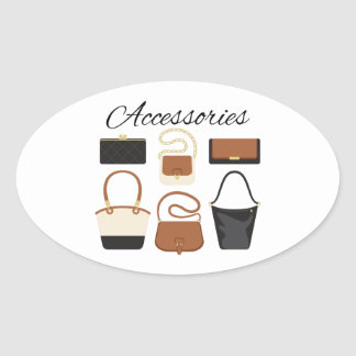 Womens Accessories Oval Sticker