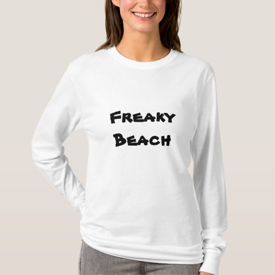 Women's adult t-shirts-freaky beach T-Shirt