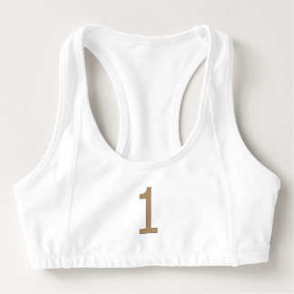 Women's Alo Sports Bra with Golden Number One