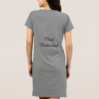 Women's American Ap T-shirt Dress Chief Bridesmaid