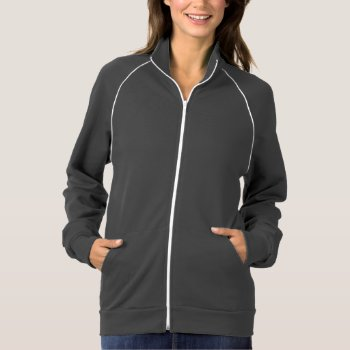 Women's American Apparel California Fleece Track J Jacket by creativeconceptss at Zazzle
