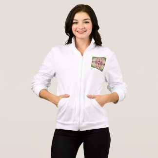 Women's American Apparel California Fleece Zip Jog Jacket