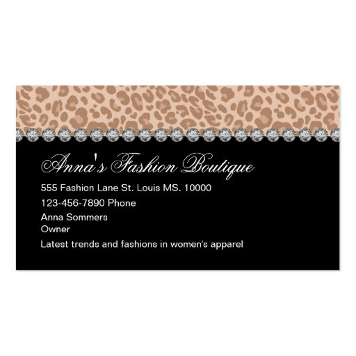 Women39s apparel business cards zazzle for Business cards for women