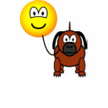 Dog walking emoticon   womens_apparel_tshirt