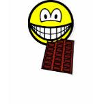 Chocolate eating smile   womens_apparel_tshirt