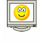 Computer screen emoticon   womens_apparel_tshirt