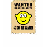 Wanted poster buddy icon   womens_apparel_tshirt