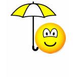 Umbrella emoticon   womens_apparel_tshirt