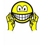 Fingers crossed smile   womens_apparel_tshirt