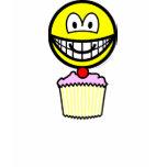 Cup cake smile eating   womens_apparel_tshirt