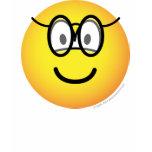 Emoticon with glasses   womens_apparel_tshirt