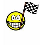 Checkered flag smile   womens_apparel_tshirt