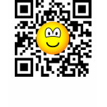 Qr Code emoticon 2D barcode  womens_apparel_tshirt