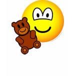 Teddy bear toy emoticon   womens_apparel_tshirt
