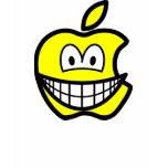 Apple logo smile   womens_apparel_tshirt