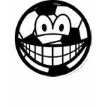 Soccer ball smile   womens_apparel_tshirt