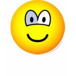 Glass eye emoticon   womens_apparel_tshirt