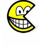 Pac Man smile   womens_apparel_tshirt